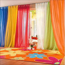 kitchen orange sheer curtains walmart orange and blue curtains