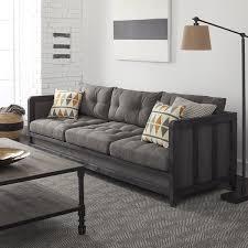 Macys Radley Sleeper Sofa by Creston 94 Inch Smoke Linen Sofa Free Shipping Today Overstock