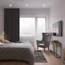skandinavisch einrichten kleines schlafzimmer grau dunkle