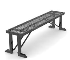 Free Standing Expanded Metal Locker Room Bench