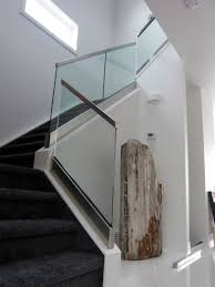 Railing Glass With Base Shoe And Handrail | House Of Mirrors ... Modern Glass Stair Railing Design Interior Waplag Still In Process Frameless Staircase Balustrade Design To Lishaft Stainless Amazing Staircase Without Handrails Also White Tufted 33 Best Stairs Images On Pinterest And Unique Banister Railings Home By Larizza Popular Single Steel Handrail With Smart Best 25 Stair Railing Ideas Stairs 47 Ideas Staircases Wood Railings Rustic Acero Designed Villa In Madrid I N T E R O S P A C