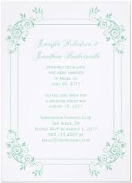 Vintage Post Wedding Reception Invitations