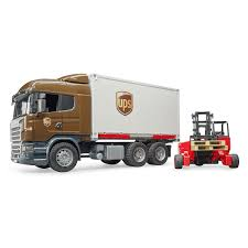 100 Ups Truck Toy Bruder Scania RSeries UPS Logistics With Forklift The