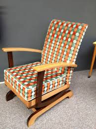 100 Rocking Chair With Pouf 1950s60s Danish MidCentury Sofachairbenchstool
