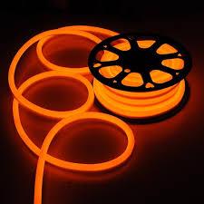 50ft Orange LED Neon Rope Light Holiday Valentine Party Decoration