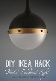 Hanging Lamp Ikea Indonesia by Diy Ikea Hack U201chicks U201d Pendant Light The Gathered Home