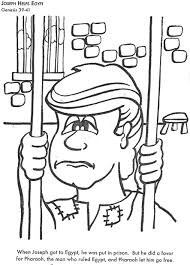 Joseph Coat Coloring Page Image Gallery In Jail