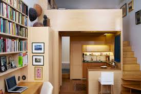 100 Loft Sf 240 SF Micro Apartment In NYC With Library And