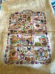 Frosted Pumpkin Stitchery Woodland Sampler by New Year New Goals U2013 Alex Jayne