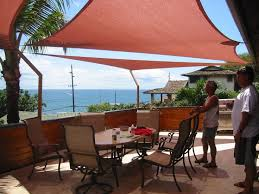 outdoor waterproof patio shades shade sails great idea for the patio the pop of color