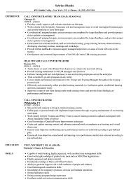 Download Call Center Trainer Resume Sample As Image File
