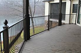 Metal Deck Railing Installed - Wrought Iron Balusters Wrought Iron Stair Railing Idea John Robinson House Decor Exterior Handrail Including Light Blue Wood Siding Ornamental Wrought Iron Railings Designs Beautifying With Interior That Revive The Railings Process And Design Best 25 Stairs Ideas On Pinterest Gates Stair Railing Spindles Oil Rubbed Balusters Restained Post Handrail Photos Freestanding Spindles Installing