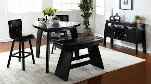 Triangle Table With Benches Valuable Dining Bench Triangular Seating And Chairs Set 3 Black
