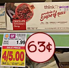 ThinkThin B1G1 Coupon Protein Superfruit Bar Just 63c At Kroger