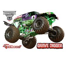 100 Monster Truck Grave Digger Videos XLarge Officially Licensed Jam Removable Wall Decal