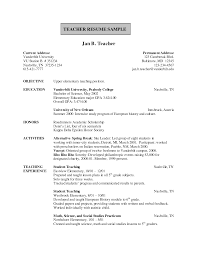 Resume Format For Cover Letter Elementary Teacher