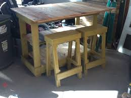wood pallet dining table with diy reclaimed wood stool ideas