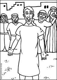 Jesus Heals A Paralyzed Man Colorin Coloring Page