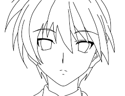 Anime Boy Face Coloring Pages