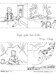 Elijah Bible Coloring Pages And