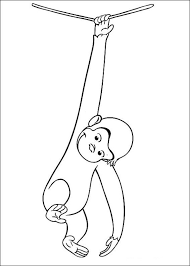Free Coloring Pages Curious George Monkey Detail Description