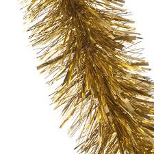 Gold Christmas Tree Tinsel Icicles by Luxury Chunky Gold Tinsel Christmas Tree Decoration