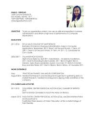 Sample Resume For Business Administration Graduate Examples 2017