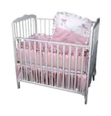Baby Doll Bedding Pretty Pique Mini Crib Port a Crib Set Pink
