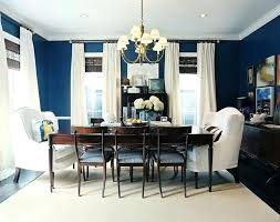Blue And White Dining Room D Navy With Curtains So Fresh Looking