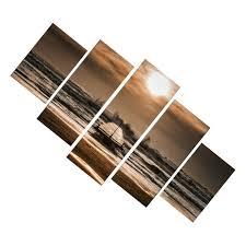 5xcanvas wall artwork bilderset strand muschel wohnzimmer