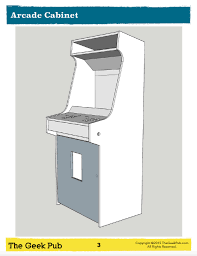 Bartop Arcade Cabinet Plans Pdf by Mame Cabinet Plans Pdf 48 Images Arcade Cabinet Plans The
