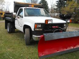 100 Dump Trucks For Sale In Michigan 1994 GMC 3500HD 35 YARD DUMP TRUCK W 8 12FT MEYERS SNOW PLOW