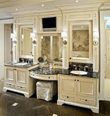 desk bathroom cabinets with makeup vanity double sink bathroom