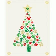 Christmas Tree With Paws Print And Frame