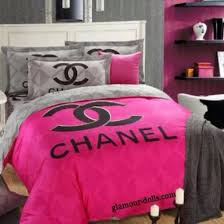 Bag home accessory bedding bedroom chanel inspired pink bed