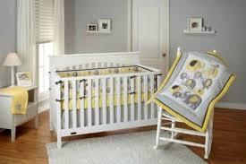 Crib Bedding Set forter Soft Yellow Baby Nursery Modern