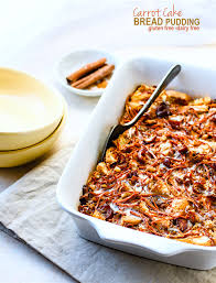 gluten free carrot cake bread pudding casserole dairy free EASY to Make ahead