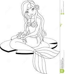 Mermaid Coloring Pages Beautiful GirlColoringFree Download Inside Cartoon