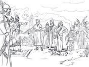 Shadrach Meshach And Abednego Before King Nebuchadnezzar From Prophet Daniel