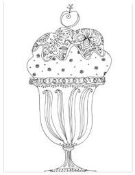 Summer Coloring Pages For Adults Ice Cream Sundae