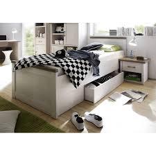 einzelbett lund 78 landhaus design in pinie weiß nb trüffel eiche n