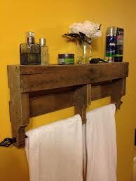 RESERVEDRustic Pallet Towel Rack Shelf By ReformedByLeviathan