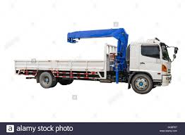 Boom Truck Crane Isolated On White Background Stock Photo: 113357167 ...