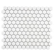 merola tile metro hex glossy black 10 1 4 in x 11 3 4 in x 5 mm