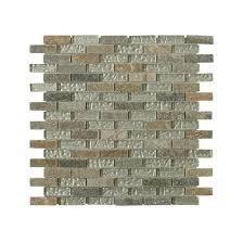 studio autumn series 1 2 x 2 brick tile in green slate and white