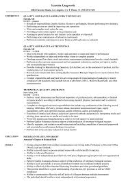 Download Technician Quality Assurance Resume Sample As Image File