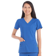Ceil Blue Scrubs Amazon by Med Couture Activate In Motion V Neck Top