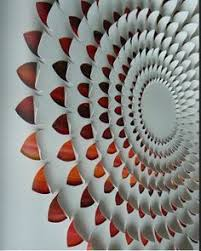 Paper Scrap Wall Art Draw A Spiral On Large Piece Of Glue