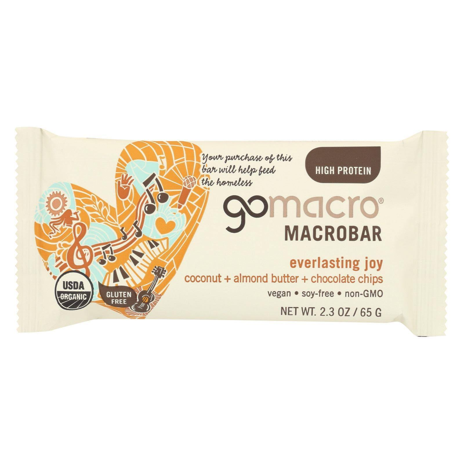 Gomacro Organic Macrobar Coconut Almond Butter and Chocolate Chips