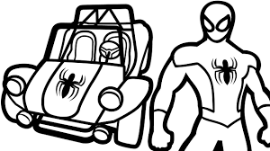 Spiderman And Cars Coloring Pages For Kids Book Fun Art Activities Video
